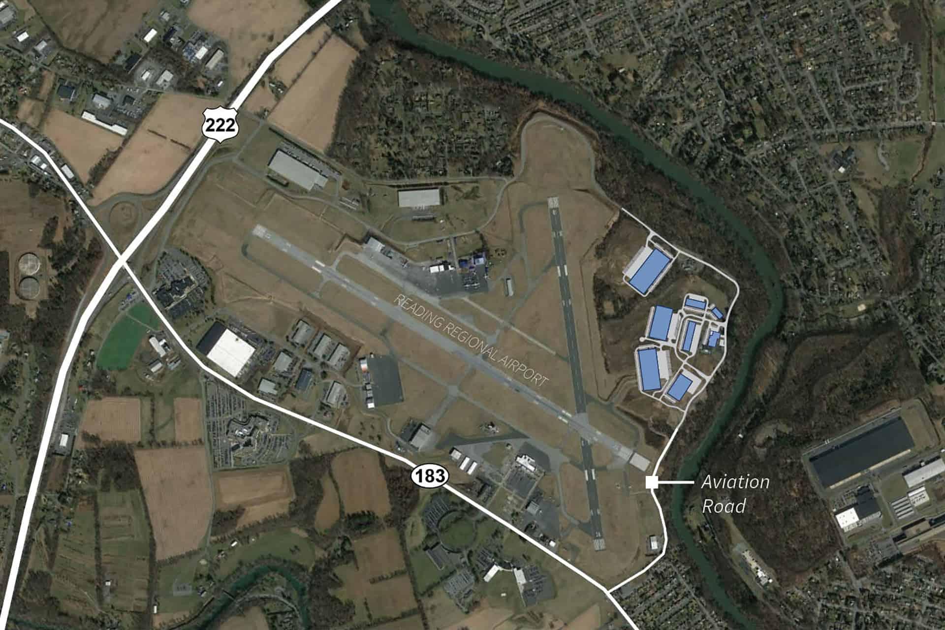 Berks Park 183 - Site To 222 Aerial